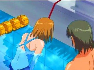 He Takes His Hentai Slave To The Pool